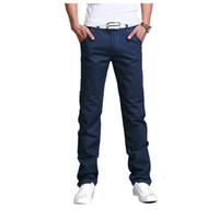 pantalon cargo hombre talla 28 al por mayor-Al por mayor-2016 verano otoño nuevos hombres de negocios casuales pantalones delgados pantalones sólidos de moda para hombre pantalones de carga recta ropa de hombre tamaño 28-40