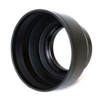 pentax lensler toptan satış-58mm 3-Stage Kauçuk Katlanabilir Lens Hood Için Cannon, Nikon, Sony, Pentax