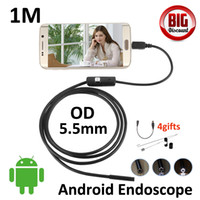 Wholesale Industrial Lens - Micro USB 5.5mm Lens Endoscope 6LED Industrial Portable Camera Endoscope 1M Mini USB Camera Android OTG Phone Endoscope