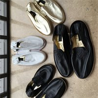 Wholesale Driver Shoes Men - jenuine leather drivers travel hotel and home men and women shoes slip on cloesed toe round toe breathable soft comfortable sheepskincasual