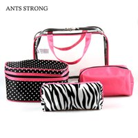 Ants Strong Quattro-pezzo impermeabile sacchetto cosmetico / Zebra Pattern Travel Cosmetic Bag pacchetto borsa Beach Fashion Jelly Bag