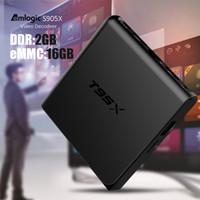 Wholesale Android Box App - Amlogic S905X Android TV Box Quad Core 2GB 16GB Media Play Center fully loaded TX5 Smart TV App Box 4K