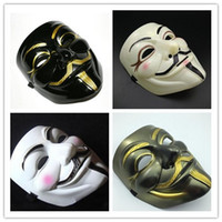Wholesale Sell Anonymous Mask - Hot selling Party Masks V for Vendetta Mask Anonymous Guy Fawkes Fancy Dress Adult Costume Accessory Party Cosplay Masks