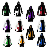 Wholesale assassins creed white jacket - Assassins Creed 3 III Conner Kenway Hoodie Coat Jacket Assassin's Creed Assassin's Costume Connor Cosplay Overcoat