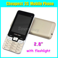 Wholesale Cheap Sim Cell Phone Gsm - Cheap Mobile phone H-mobile T1 2.8 inch No System 2G GSM Unlocked Quad Band Back Camera Cell Phone with Flashlight Free Shipping