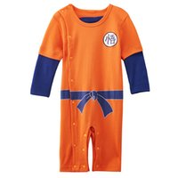 Baby Boy Dragon Ball Z Romper Onesie Goku Funny Costume Infant Playsuit Комбинезон для костюмов
