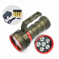 New 6x CREE XM -L2 LED Flashlight Scuba Diving torche lampe 200M 10000 Lumens LED Lanterne étanche pour la plongée en plein air Camping