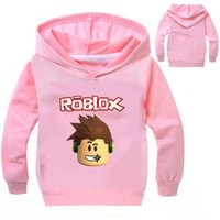 Wholesale Fall Protection Jacket - 3-10Years Roblox Shirt Boys Hoodies Pullover Slim Fit Top Base Coat Infant Girl Coat Fall Protection Bike Jumper NO7664
