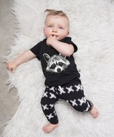 Wholesale Newborn Boy Pants Cotton - Summer Boys Clothes 2017 New INS Baby Boy Clothes squirrel t shirt + XX pants Sets Infant clothes newborn Toddler Boys suits Kids Set 2pcs