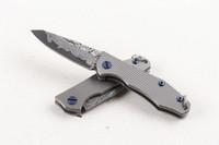 мини-брелки для ключей оптовых-2017 новый мини небольшой складной нож брелок ножи VG10 Дамасская сталь лезвие TC4 Титана ручка EDC карманные ножи рамка замок