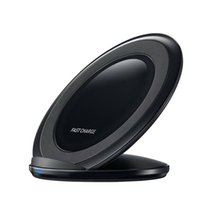 Wholesale wireless charger online - Universal Wireless Charger Fast Charging Vertical Charging Pad Cell Phone Charger Dock For iPhone Plus iPhone X Samsung Galaxy S7