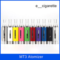 Wholesale Mt3 Cartomizer Electronic Cigarette - MT3 atomizer 2.4ML MT3 Evod Tank Cartomizer Clearomizer for Electronic Cigarette E cigarette EGO eGo-T eGo-W eGO-C Joyetech Vivi nova