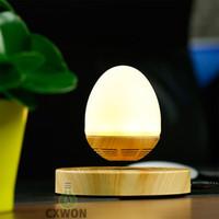 manyetik kaldırma hoparlörleri toptan satış-Yüzer Taşınabilir maglev Kablosuz Bluetooth Hoparlörler lamba ile Manyetik Levitation Masa Lambası ev ofis dekorasyon için Uygun