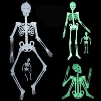 90Cm Halloween Ghost Day Scene Impostazione Prank Props Luci notturne Bianco Verde Colourful Skeleton Halloween Party Supplies