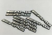 Wholesale 3d wheels sticker for sale - Group buy 100pcs x4mm Car Steering Wheel Stickers Emblem Decoration Car Sound Audio Decals for Benz AMG A B C E GLA CLA GLK ML