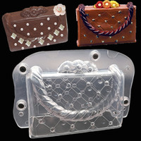 Wholesale Handmade Lady Bags - Big Size 3d Diy Handmade Cake Lady Bag Chocolate Mold Plastic Polycarbonate Bag Cake Decorating Tools With Magnet
