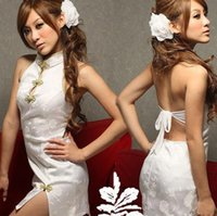 Wholesale White Sexy Lingerie Cheongsam - New COSPLAY Chinese Cheongsam Dress Sexy Lingerie Women Costumes Sex Products Toy Role Play