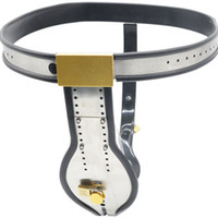 Wholesale Stainless Steel Panties - Stainless Steel Male Chastity Belt with Cock Cage Chastity Lock Sexy Panties Bondage Products for Adults G7-4-33