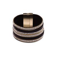 Wholesale Tassel Bracelet Cross - Leather bracelets zircon alloy gold plated bracelets for women 28 style tassel cross etc decoration fashion jewelry
