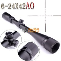 Wholesale Mil Dot Reticle Riflescope - 2016 NEW DHL Free Shipping Diana 6-24x42 AO Riflescope hunting scope Parallax-adjustment Mil-Dot reticle Optical instruments