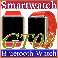 12X GT08 SmartWatche Bluetooth Smart Watch Armband Bluetooth Armband WithSim Karte Push Nachricht Bluetooth Connectivity Android Phone C-BS