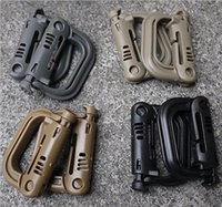 500 pezzi Molle Tactical Backpack EDC Shackle Moschettone a scatto D-Ring Clip KeyRing Locking