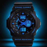 Wholesale Multifunctional Sport Watch - 2016 new Sports Watches For Men Waterproof Fashion Casual Digital Clock Watch LED Military Army Multifunctional Wristwatches