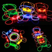 Wholesale El Necklace - Dog LED Collars Pet Flashing LED EL Wire Collars Multiple Colors Pet Collar Necklace Retail OPP Package