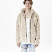 Wholesale Solid Color Hooded Cardigans - Sherpa hoodie streetwear cool kanye west clothing fashion hip hop skateboard urban clothes swag Men hoodies Hooded Cardigan