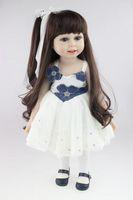 amerikan kız bebek 18 inç toptan satış-En Tatlı Moda Gerçekçi Bebek 18 'Inç Amerikan Kız Bebek PlayToy BDG67 Çevre Dostu Brinquedos Meninas Banyo DIY Bebek En Ucuz Bebek