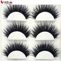 Saleing False EyeLashes 1 Box 5Pairs Thick Black False Wimpern Make-up Tipps Natürliche Smoky Make-up Lange Fake Eye Peitsche