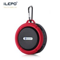 Wholesale Mp3 Player Drivers - Mini C6 Bluetooth Speaker Waterproof Shower Portable Speakers With 5W Strong Driver Hook Suction Cup Music Player With Retail Package Box