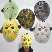 Wholesale Funny Adult Men Halloween Costumes - Dance Vintage Jason Mask Bronze Cosplay Costume Halloween Mask Hockey Party Easter Festival Horror Funny Full Face Mask HH7-113
