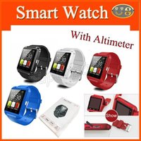 U8 Wearable Smart Watch Bluetooth Wrist U Watch para iPhone Samsung HTC Android Cell Phone Smartphones Smartphones Altimetro Smartwatch DHL 10pcs