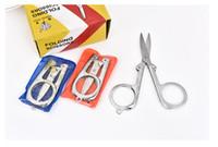 casa scissor quente venda por atacado-Diamante Lança Venda Quente Casa Portátil Dobrável Tesoura Mini Folding Tesoura Dobrável Tesoura de Viagem Cor Prata