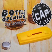 Wholesale Cap Launcher - 1 Piece Flying Cap Zappa Bottle Opener Cap Launcher Fancy Beer Openers With Key Ring