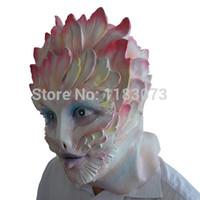 ingrosso lattice femminile del fronte-La maschera di testa di elfo fiore sexy femminile partito cosplay bellezza fiori maschere in lattice mascherata di gomma maschere a pieno facciale oggetti di carnevale