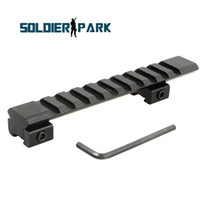Wholesale rail riser - NEW 10 Slot Low Riser WEAVER PICATINNY Rifle Mount Scope Mount Rail 20mm Aluminum Alloy Durable Hunting Airsoft Tactical Mount order<$18no t