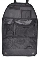 Wholesale Hanging Pocket Chairs - High quality Promotional waterproof car seat organizer Car interior storage bag folding multi - functional car chair back hanging bag organi