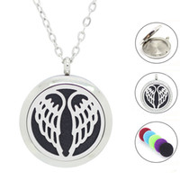 Wholesale with chain as gift mangetic mm mm mm L Stainless Steel Essential Oil Diffuser locket perfume locket necklace