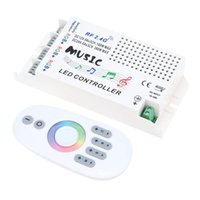 Wholesale Music Rf Controller - Wireless RF 2.4G DC 12V-24V Music Remote Controller Dimmer for RGB LED Strip Light Module Light Box Music Controller