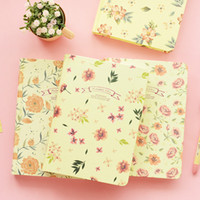 Wholesale diary book flower - Wholesale- Flowers fall notebook A5 size Hardcover diary book journal agenda caderno stationery Office School supplies papelaria 6662
