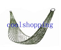 Wholesale Metal Cot Beds - Meshy Hammock Cot Bed Mesh Net Hammock with Metal Loops for Outdoor