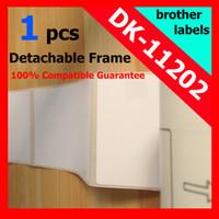 Wholesale Dk Labels - Wholesale-100x pcsBrother Compatible Labels reusable cartridge frame etiketten dk 11202 dk11202 62x100mm Shipping label