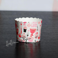 Wholesale Greaseproof Cupcake Liners Bulk - Free shipping pink series decoration bulk 100pcs lot high temperature baking greaseproof paper muffin cupcake liners wrappers