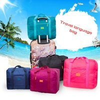 Wholesale carry shoulder bag backpack resale online - Travel Luggage Bag Big Size Folding Carry on Duffle bag Foldable Pouch waterProof Women Travel Bags