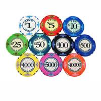 Wholesale Pcs Value - High Quality Ceramic Poker Chips 12g pcs Value Casino Chips Texas Hold'em Poker Wholesale Poker Club Chips