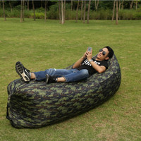 Wholesale High Quality Trendy Camo Color Hangout Fast Inflatable Air Sleeping Bag Camping Hiking Outdoor Pads Lazy Sofa Lounger