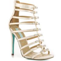 ingrosso sandalo da danza nozze avorio-Scarpe da sposa in metallo color avorio Sandali da gladiatore per le donne Sandali da donna realizzati su ordinazione Strass con cinturino alla caviglia