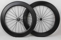 Wholesale Carbon Fiber Rims Bicycle - Dimple golf Surface wheels 808 rim depth 80mm Clincher 700c carbon fiber road bike wheels carbon bicycle Wheelset basalt brake surface